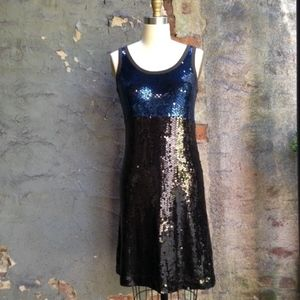 NWT Tory Burch sequin Lucinda navy dress